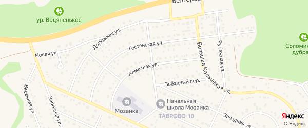 Алмазная улица на карте Таврово 10-й микрорайона с номерами домов