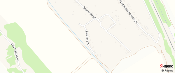 Речная улица на карте хутора Красного Востока с номерами домов