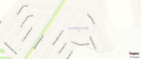 Полевой 2-й переулок на карте Беломестного села с номерами домов
