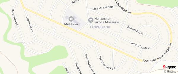 Большая Кольцевая улица на карте Таврово 10-й микрорайона с номерами домов