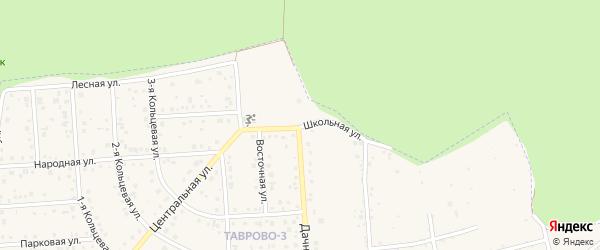 Школьная улица на карте Таврово 3-й микрорайона с номерами домов