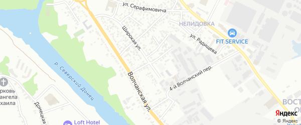 Волчанский 3-й переулок на карте Белгорода с номерами домов