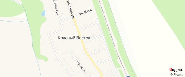 Белгородская улица на карте хутора Красного Востока с номерами домов