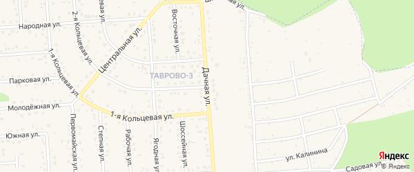Дачная улица на карте Таврово 3-й микрорайона с номерами домов