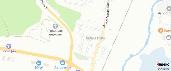 Индустриальный 3-й переулок на карте Белгорода с номерами домов