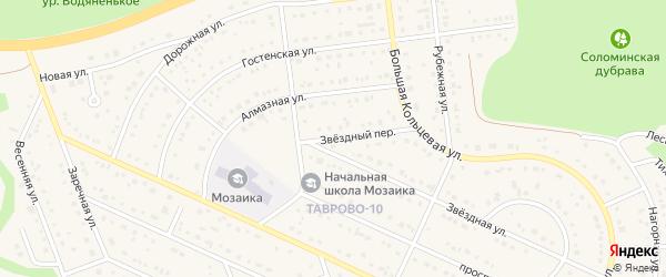 Звездный переулок на карте Таврово 10-й микрорайона с номерами домов