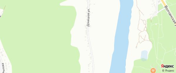 Донецкая улица на карте Белгорода с номерами домов