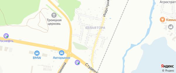 Индустриальный 2-й переулок на карте Белгорода с номерами домов