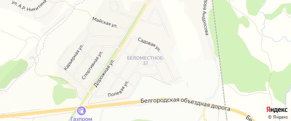 СТ Фиалка на карте Северного поселка с номерами домов