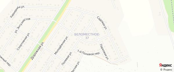 Армейский переулок на карте Северного поселка с номерами домов