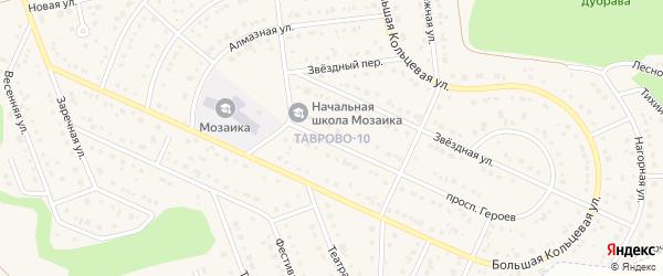 Новый переулок на карте Таврово 10-й микрорайона с номерами домов