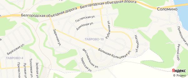 Карта Таврово 10-й микрорайона в Белгородской области с улицами и номерами домов