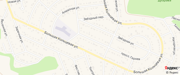 Нижняя улица на карте Таврово 10-й микрорайона с номерами домов