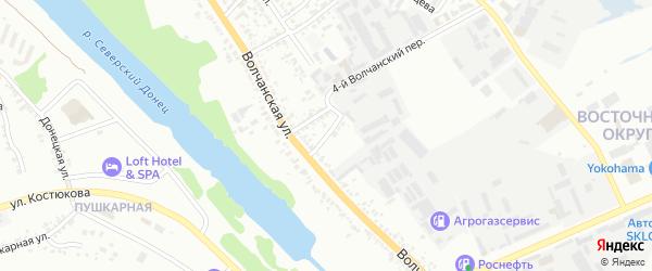 Волчанский 5-й переулок на карте Белгорода с номерами домов