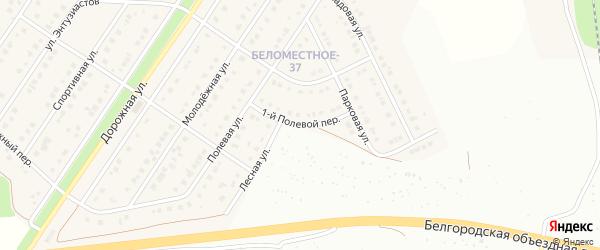 Полевой 1-й переулок на карте Беломестного села с номерами домов