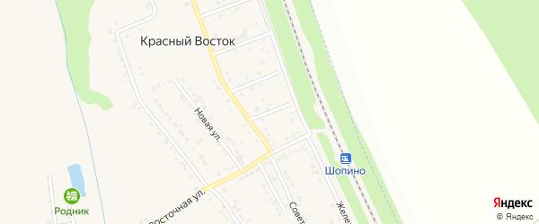 Зеленый переулок на карте хутора Красного Востока с номерами домов