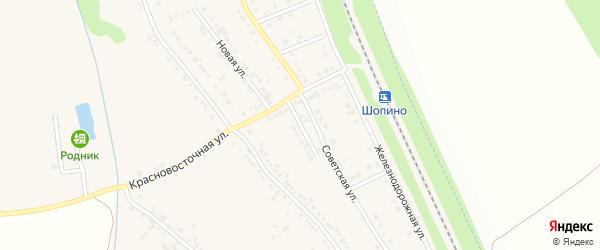 Цветочный переулок на карте хутора Красного Востока с номерами домов