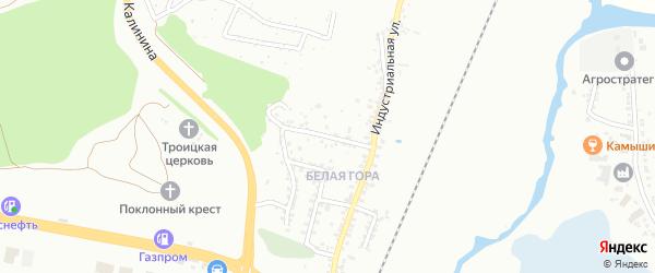 Индустриальный 5-й переулок на карте Белгорода с номерами домов