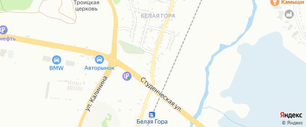 Индустриальная улица на карте Белгорода с номерами домов