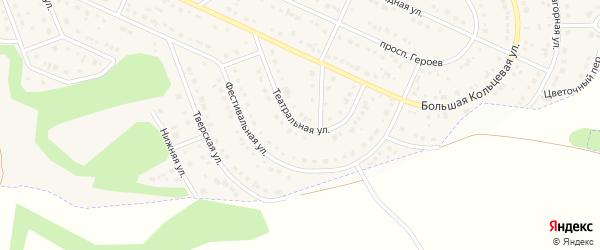Театральная улица на карте Таврово 10-й микрорайона с номерами домов
