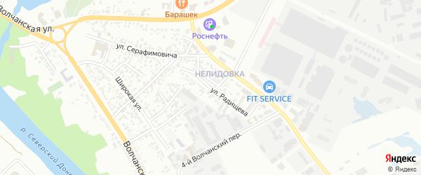 Улица Радищева на карте Белгорода с номерами домов