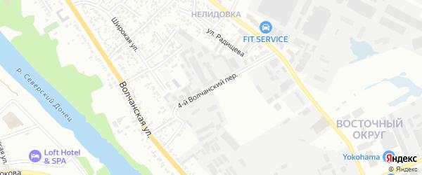 Волчанский 4-й переулок на карте Белгорода с номерами домов
