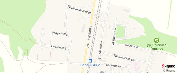 Улица Свердлова на карте села Беленихино с номерами домов