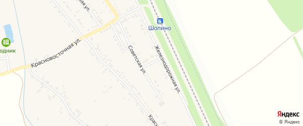 Восточный переулок на карте хутора Красного Востока с номерами домов