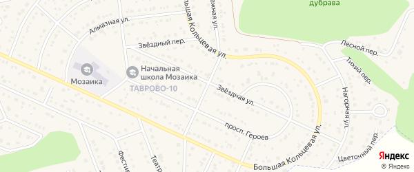 Рубежная улица на карте Таврово 10-й микрорайона с номерами домов