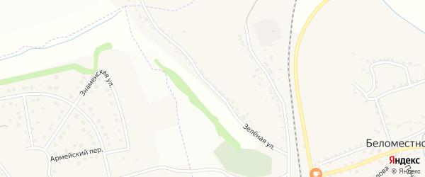 Зеленая улица на карте Беломестного села с номерами домов