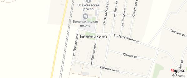 Земляничная улица на карте села Беленихино с номерами домов