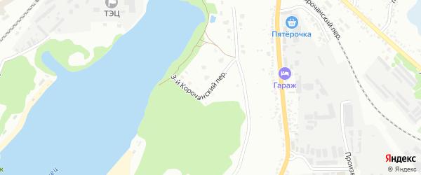 Платоновский 3-й переулок на карте Белгорода с номерами домов