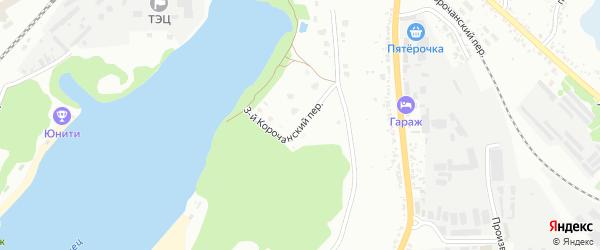Корочанский 3-й переулок на карте Белгорода с номерами домов