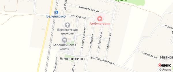 Улица Ватутина на карте села Беленихино с номерами домов