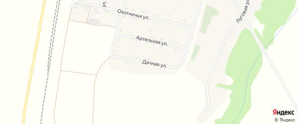 Дачная улица на карте села Беленихино с номерами домов