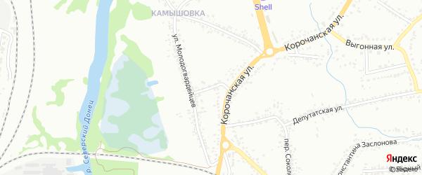 Корочанский 2-й переулок на карте Белгорода с номерами домов