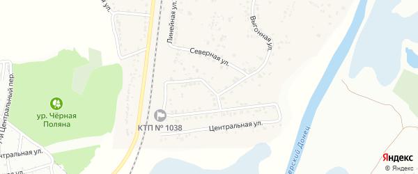 Выгонная 2-я улица на карте села Зеленой Поляны с номерами домов