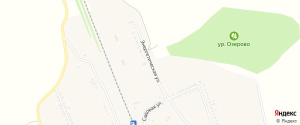 Энергетическая улица на карте поселка Сажного с номерами домов