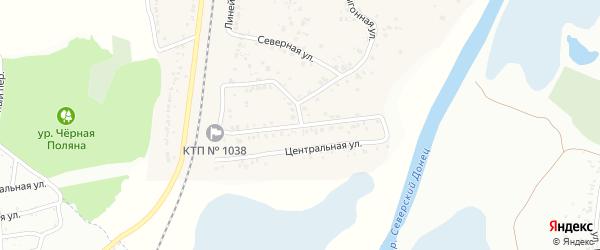 Центральная улица на карте села Зеленой Поляны с номерами домов