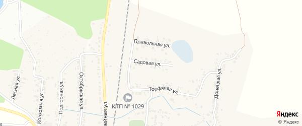 Садовая улица на карте села Зеленой Поляны с номерами домов