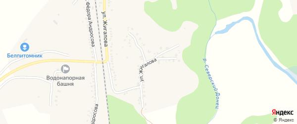 Улица Н.Жигалова на карте Беломестного села с номерами домов