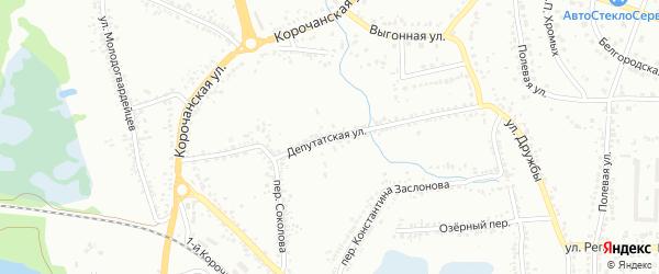 Депутатская улица на карте Белгорода с номерами домов
