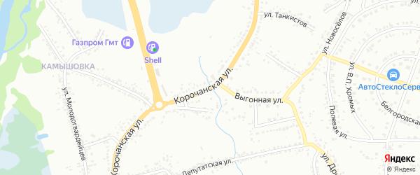 Корочанская улица на карте Белгорода с номерами домов