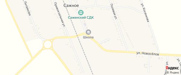 Центральная улица на карте поселка Сажного с номерами домов