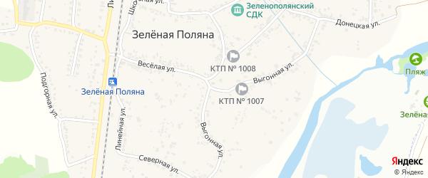 Выгонная улица на карте села Зеленой Поляны с номерами домов