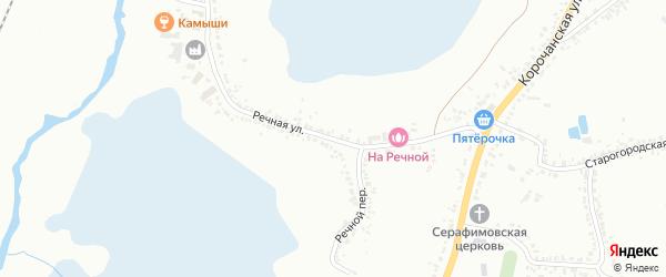 Речная улица на карте Белгорода с номерами домов