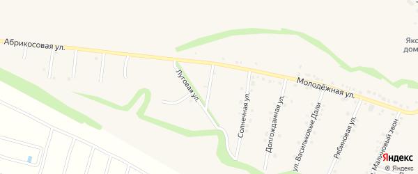 Лесная улица на карте села Гостищево с номерами домов