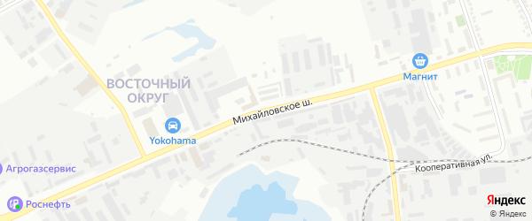 Михайловское шоссе на карте Белгорода с номерами домов