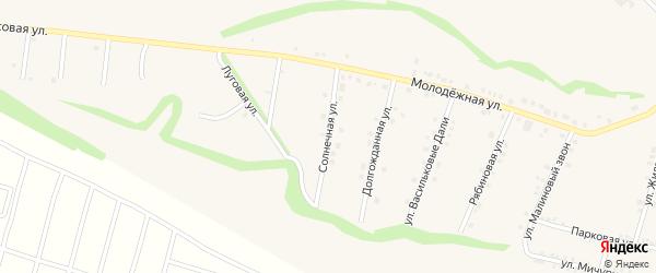 Солнечная улица на карте села Гостищево с номерами домов