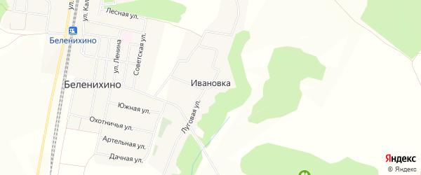 Карта хутора Ивановки в Белгородской области с улицами и номерами домов